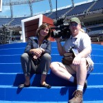 Kevin Mauch in Denver @ the DNC, shooting for an international news outlet.