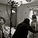 """Kevin Mauch, Jenece Amella & Christen Allen Ibarra - On the set for """"The Cleaning"""""""