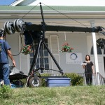 """Phil Lucero doing some Jib work for the """"Project Wise"""" demo."""