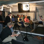 "Shooting the airplane scene for ""The Cozy"" Infomercial."